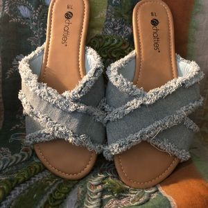 """""Denim Sandals"""" NWOT"